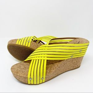 🆕Lucky Brand Miller2 Platform Cork Wedge Sandals